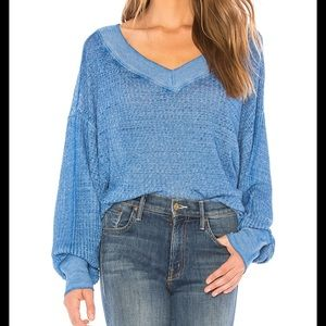 Free people south side thermal oversized sweater